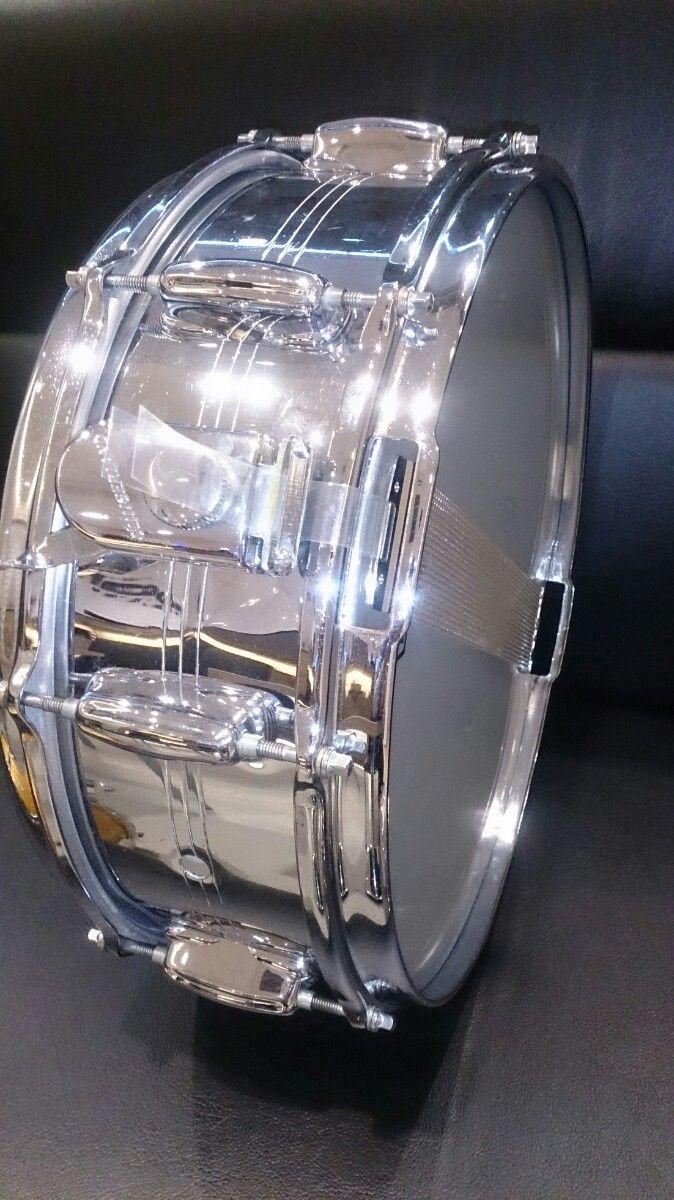 Slingerland SoundKing 60's Chrome Over Brass 14×5 曲なじみの良いヴィンテージサウンド!サウンドスタジオノア恵比寿店 03-5447-6066 #drum  #music #studionoah #ドラム #スネア #Slingerland #soundking