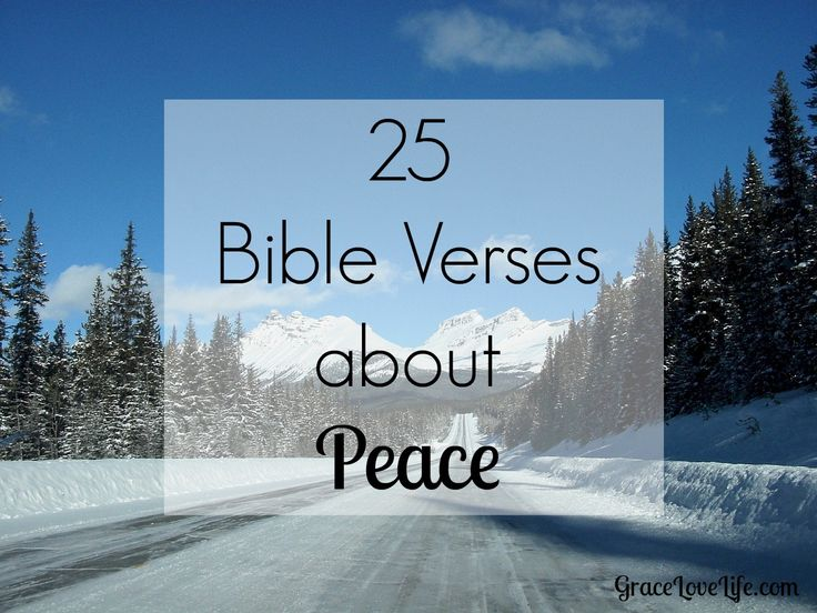 Prince of Peace: 25 Bible Verses About Peace - GraceLoveLife.com