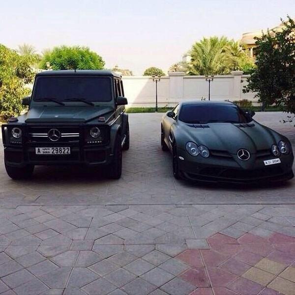 G class, SLR. matte black. Mercedes