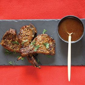 Lamb Chops with tangy sauce