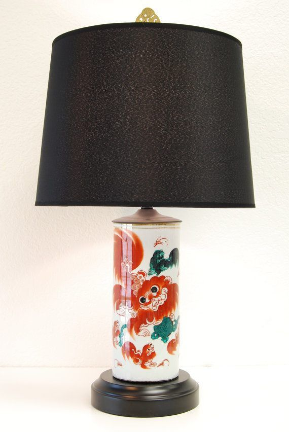 Fabulous one of a kind vintage Chinoserie cordless table lamp by Modern Lantern