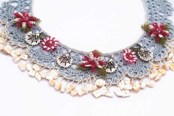 Turkish Needle Lace Necklace