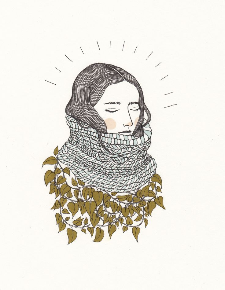 Výsledek obrázku pro tumblr plant girl drawing