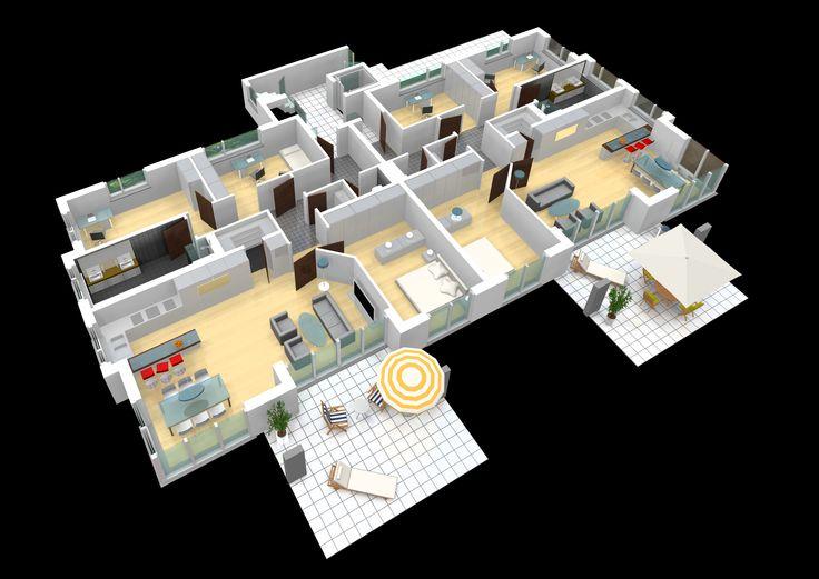 Moderne villa grundriss 3d  Best 25+ Grundriss mehrfamilienhaus ideas on Pinterest ...