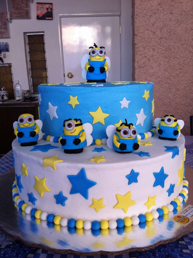 Cake Decorating Ideas Boy Birthday : Minions cake Boys Birthday Ideas Pinterest Minion ...
