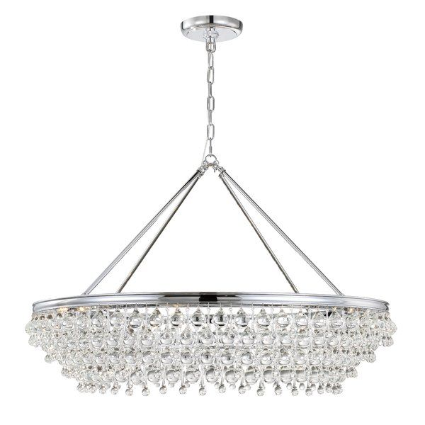 Devanna 8 light bowl crystal chandelier