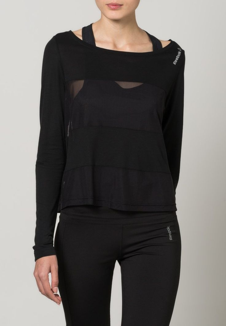 Reebok COVERUP - Long sleeved top - black for £23.00 (01/12/15) with free delivery at Zalando