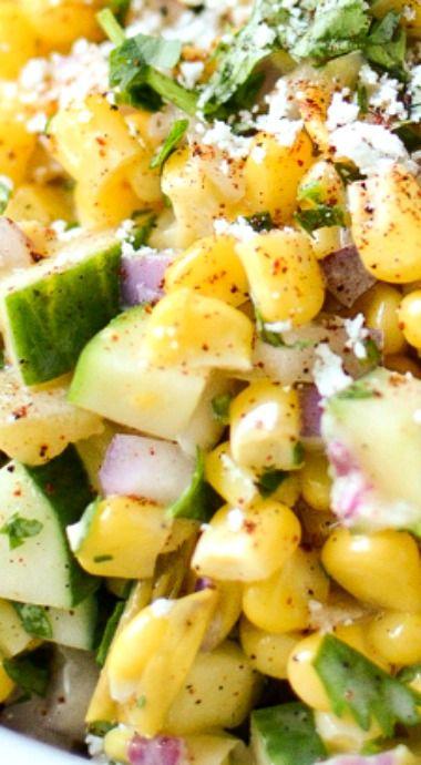 Mexican Street Corn & Cumber Salad