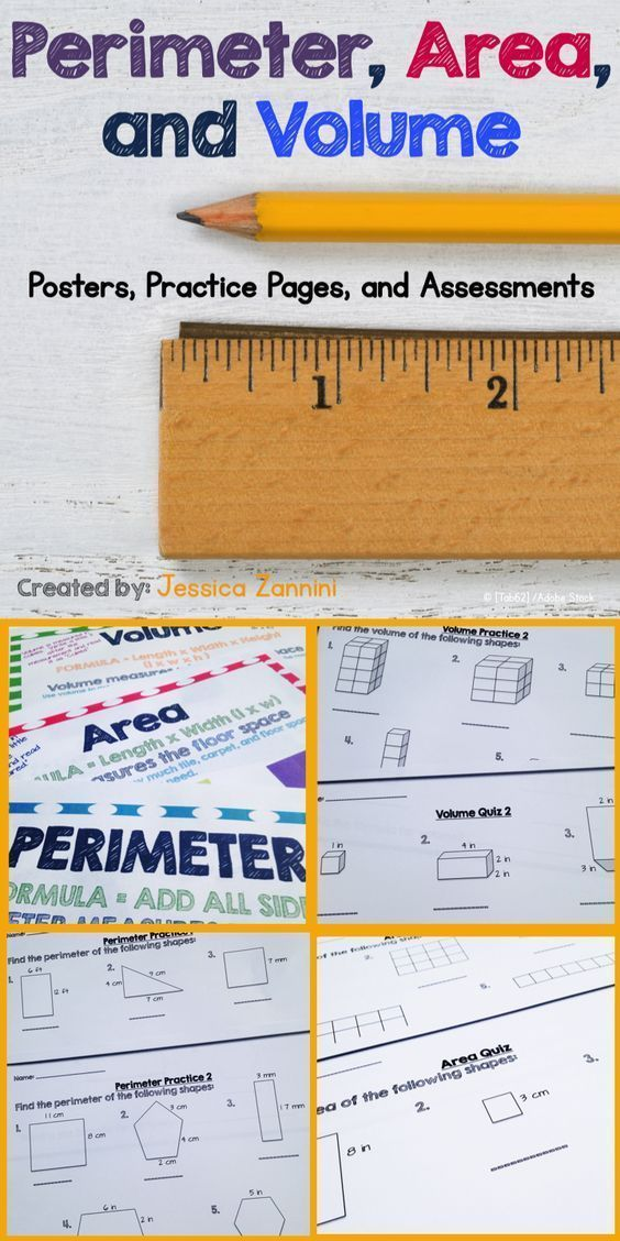 Perfect activities for my teaching my math class!  Love these perimeter, area, and volume anchor charts and assessments.  My students were able to really apply the formulas and get the practice needed to master each math standard.  Great variety of worksh