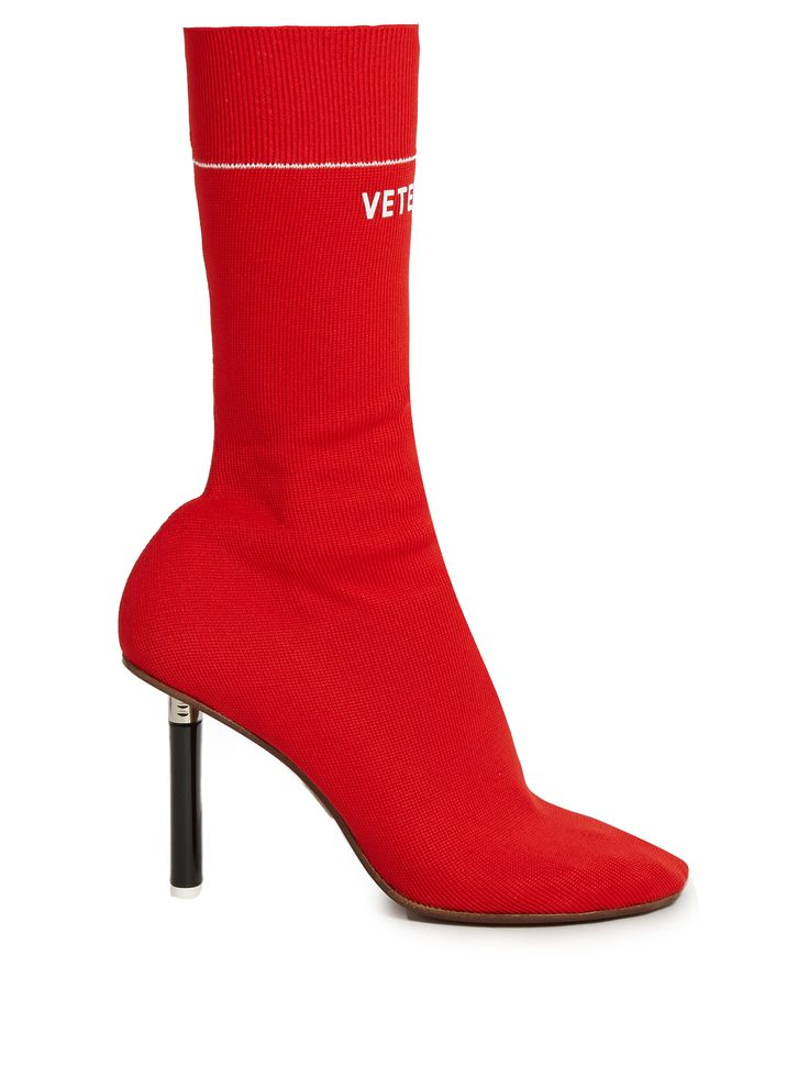 Lighter-heel sock ankle boots | Vetements | MATCHESFASHION.COM UK