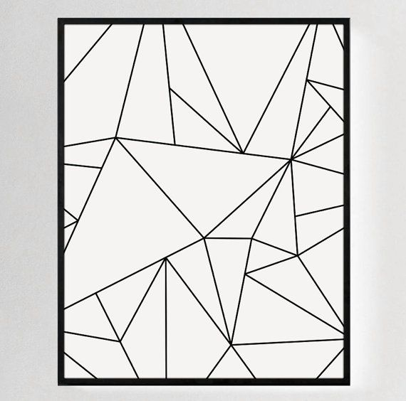 Minimalist Print Contemporary Art Modern By MelindaWoodPaperCo · White Wall  ... Part 86