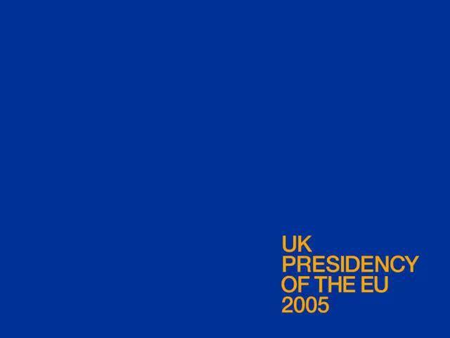 UK presidency (2005 H2) - Logo animation: https://vimeo.com/23472017 (by johnson banks)