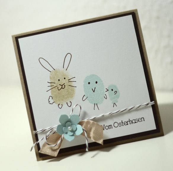 Ostern - Ei(n) schönes Osterfest- Fingerabdruck - Kinder