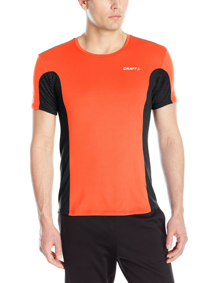 Craft Run Apparel Men's Focus Mesh Tee 91% Polyester/9% Elastane. Reflective details for enhanced visibility. Headphone cord solution. Sun protection UPF 50. Temperature cooling design.