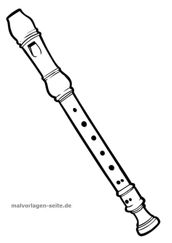malvorlage blockflöte  ausmalen malvorlagen und musik