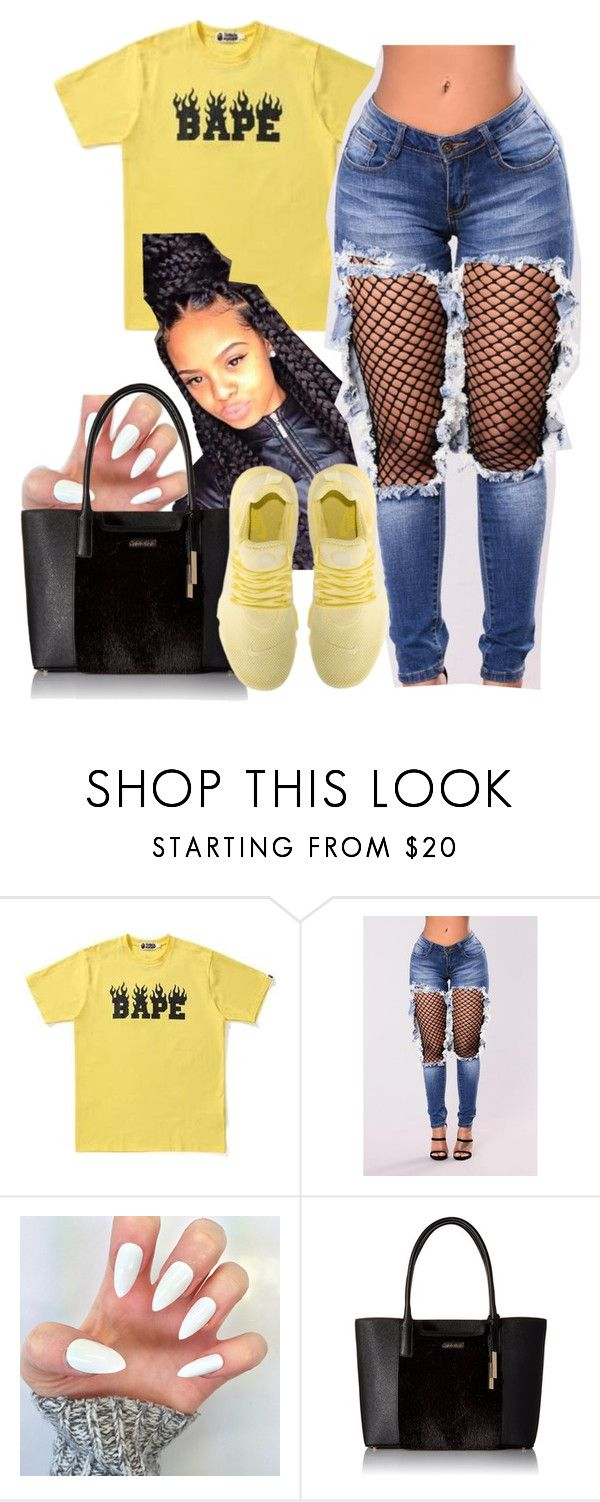 """""""Lightning ⚡️"""" by httpsydney ❤ liked on Polyvore featuring A BATHING APE and Calvin Klein"""