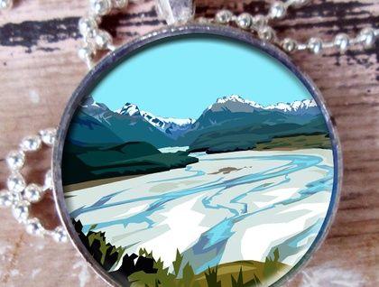 Dart River, Glenorchy pendant