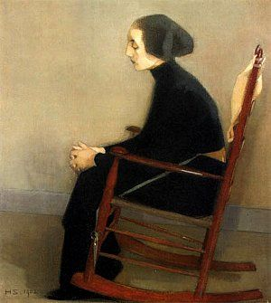 The seamtress. By Helene Schjerbeck.