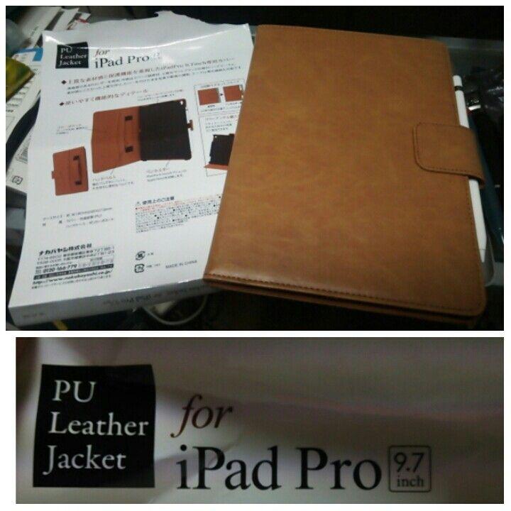 PU Leather Jacket for iPadPro9.7inch@ナカバヤシ株式会社  iPadPro9.7(2016)を購入。いろいろケースをさがしたか…キーボード付きやら、なんやら…質感、値段、機能共に納得して購入。ただ、ちと重いかも…。 キーボードは別売を買うわ!  2016.10.03