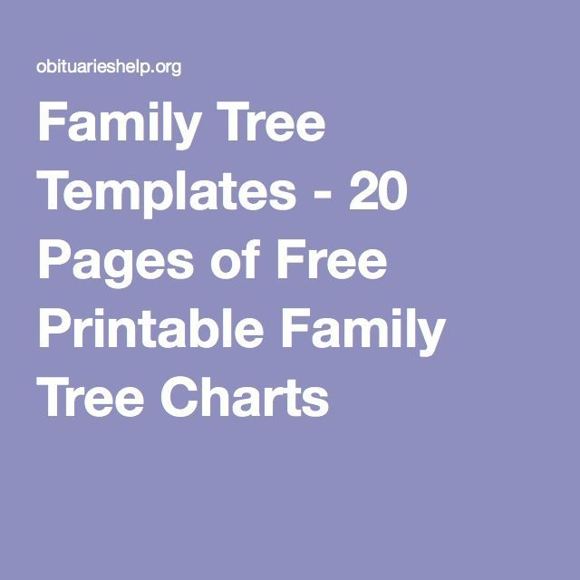 10 best ideas about family tree templates on pinterest