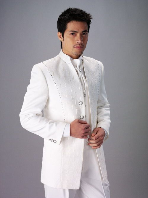 Suits for men oedipus india white indian wedding for Wedding dress shirts for groom