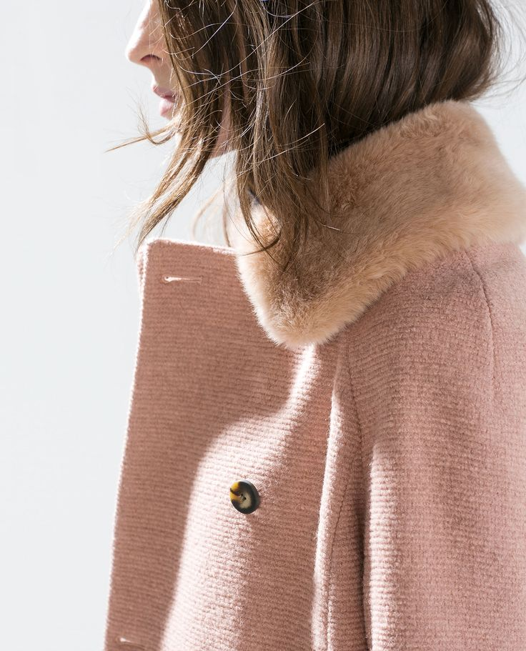 Image 5 of COAT WITH DETACHABLE FUR COLLAR from Zara