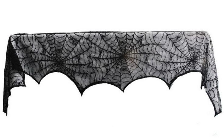 Купить товарЧерное кружево хэллоуин ну вечеринку украшения паутина камин мантии украшения шарф в категории Прочие принадлежности для отдыхана AliExpress.                      Хэллоуин украшения черные кружева Spiderweb камин мантии шарф