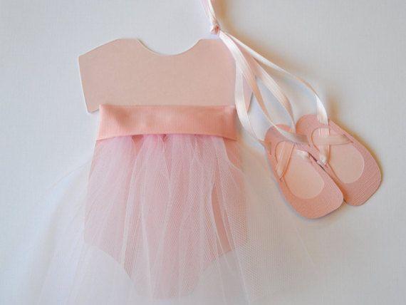 Bailarina rosa Tutu bebé ducha invitación con por stampandseal