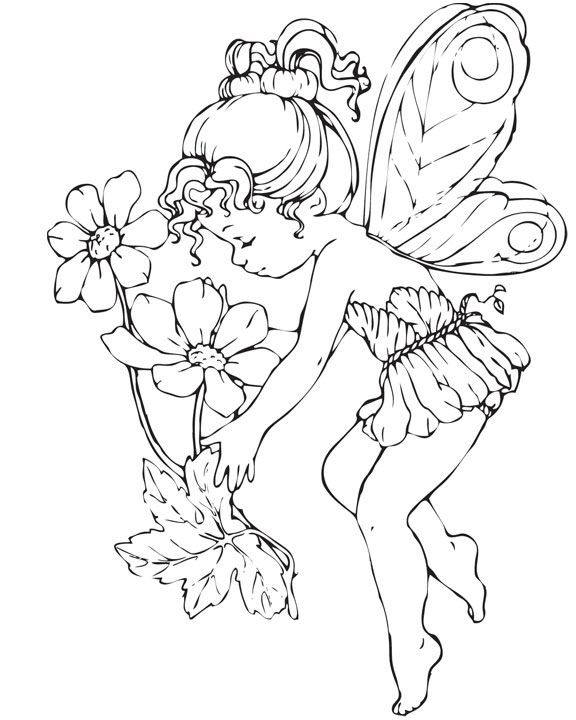 Fairy Coloring Pages For Adults | Elvenpath Coloring Pages | Fate | fairy-14