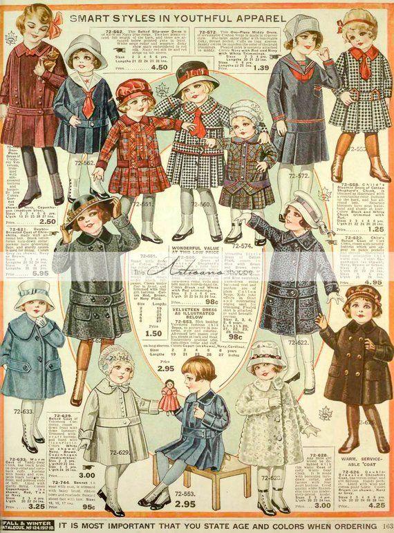 Digital Download Printable Vintage Children S Clothing Catalogue