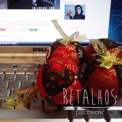 #Encomende - Disponíveis Ref.: BL_NT_02 Quatro Bolas de Natal de 60mm / #Christmas Handmade
