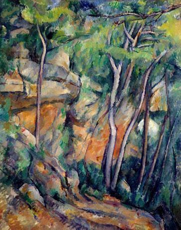 Cézanne: Dans le parc de Château Noir; 1900 Musée de l´Orangerie, Jean Walter and Paul Guillaume Collection, Paris.