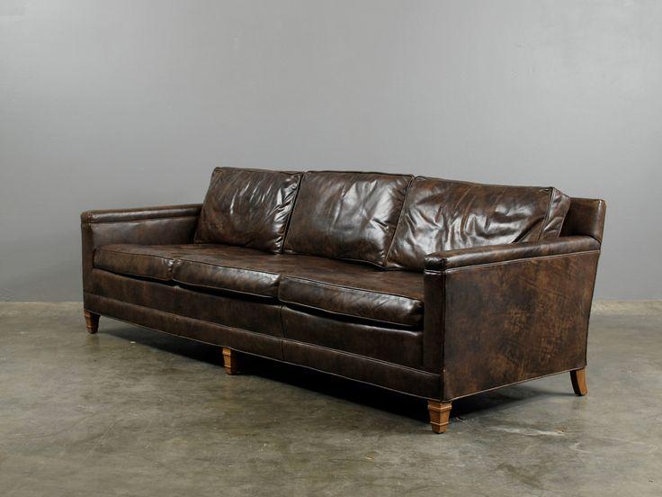 Sofa modern leder  25+ beste ideeën over Vintage leather sofa op Pinterest - Bruine ...