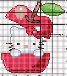 Χειροτεχνήματα: Hello Kitty σταυροβελονιά / cross stitch Hello Kitty