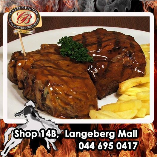 Tuesday Trivia at Cattle Baron Mossel Bay. Who knows what this bad boy is called on our Menu? Is it a Baron Rump, Carpet Bagger or a Fat Tuesday Steak? Lets see who knows our menu. #steakhouse #tuesdaytrivia #cuisine