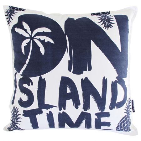 Island time cushion cover in navy - hardtofind.