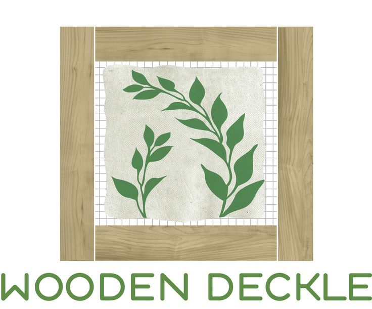 Wooden Deckle Paper Making Kits and Supplies