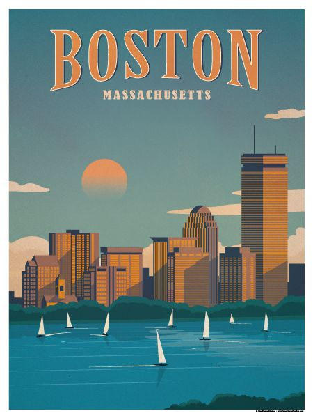 Boston Poster by IdeaStorm Studios. ©2016. Available now at ideastorm.bigcartel.com