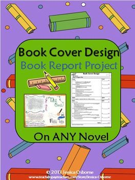 book cover design book report project my tpt store products