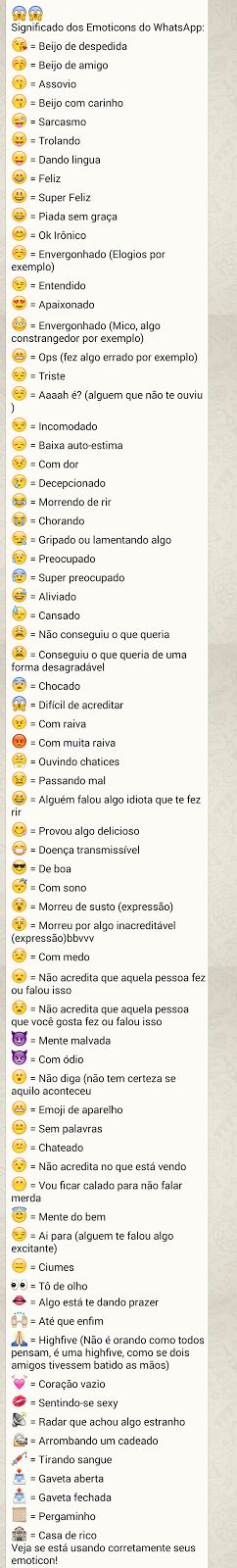 Significados Emoticons Whatsapp!! | Jabuti Rei