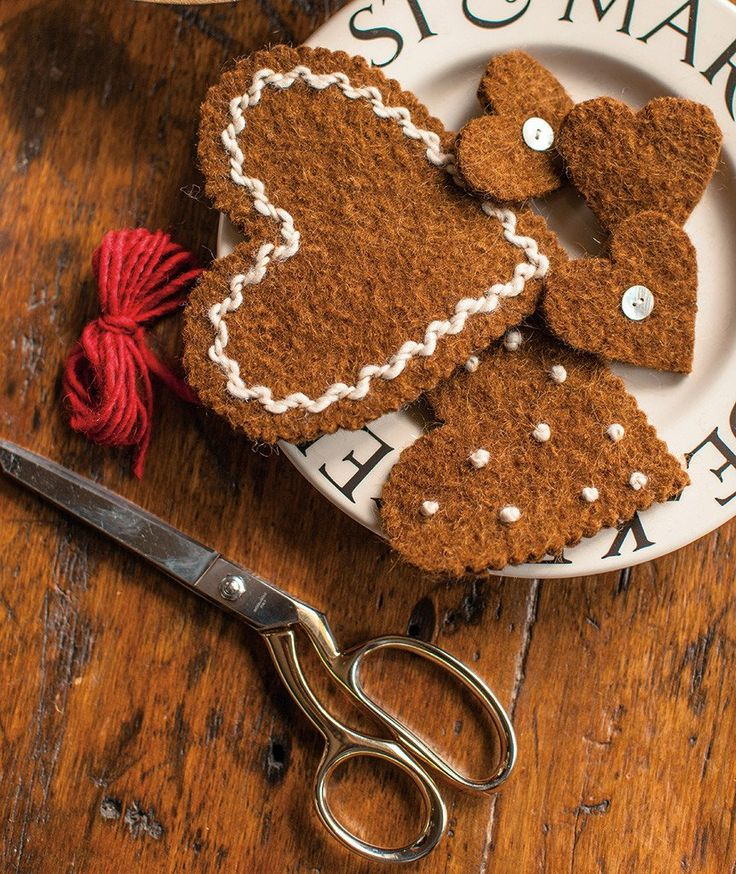 Felted Gingerbread Ornaments Pattern – Churchmouse Yarns & Teas