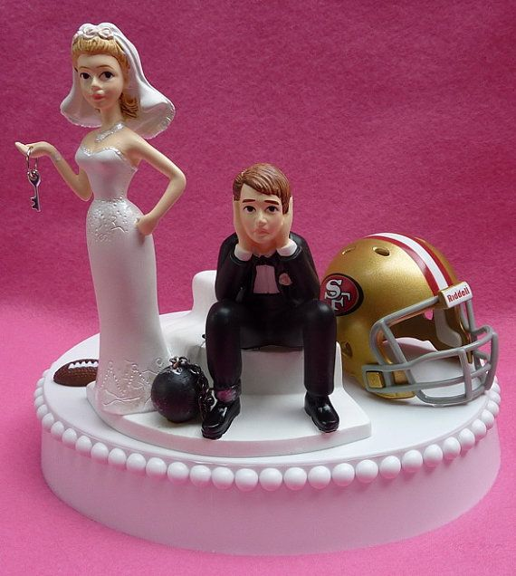 Wedding Cake Topper San Francisco 49ers SF Football by WedSet, $59.99