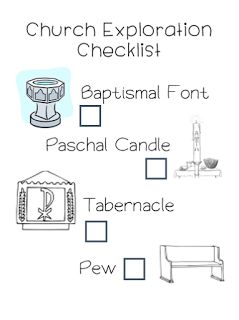 Church Scavenger Hunt from Little Miss Catechist! Great for CCD, Sunday School, and Catechism for all ages. Easily customizable and a fun way to learn about different areas and items in the church!