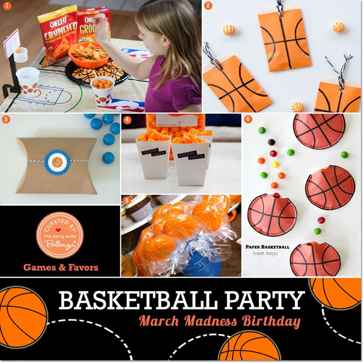 Basketball Party Theme: March Madness Birthday! Favors and Fun!