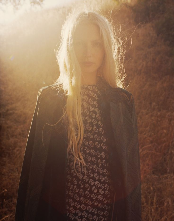 Photographed by Hilary Walsh, Kirsty Hume wears looks from bohemian clothing…