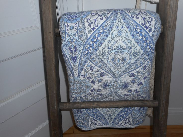 A personal favorite from my Etsy shop https://www.etsy.com/ca/listing/523307562/cynthia-rowley-blue-and-white-paisley