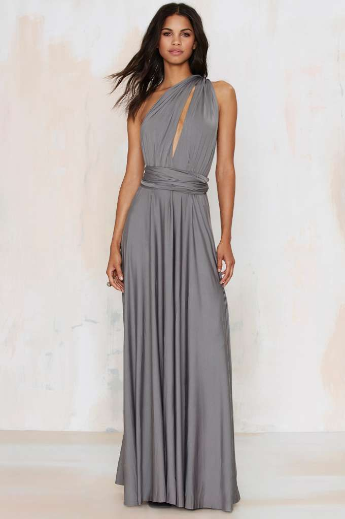Lioness voltage multi wear maxi dress gray bridesmaids for Lioness and lioness wedding dresses