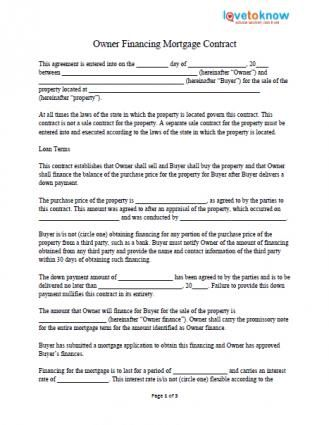 168005-329x425-owner-financing ... - private mortgage contract template