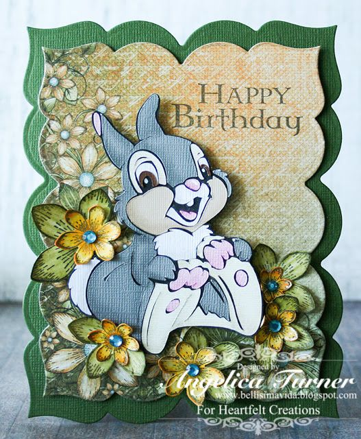 Birthday card made with Heartfelt Creations products and Cricut.