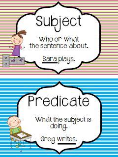 Subject and Predicate Freebie